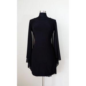 B. Darlin Black Open Back BodyCon Dress With Cape